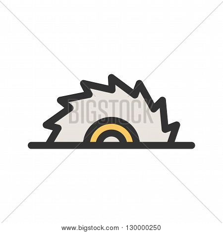 Chainsaw, wood, cutter icon vector image.Can also be used for tools. Suitable for mobile apps, web apps and print media.