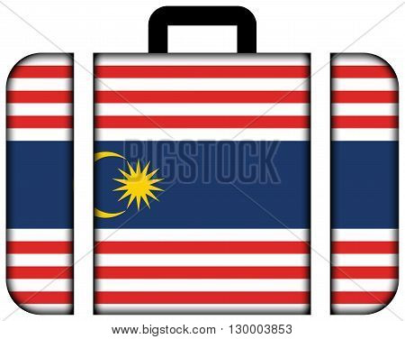 Flag Of Kuala Lumpur. Suitcase Icon, Travel And Transportation Concept