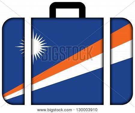 Flag Of Marshall Islands. Suitcase Icon, Travel And Transportation Concept