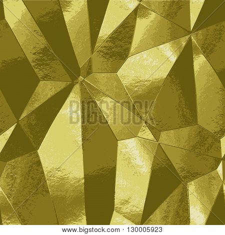 Abstract crumpled brushed background resembling gold metal foil