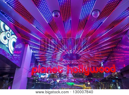 LAS VEGAS - APRIL 13 : Planet Hollywood Resort and Casino in Las Vegas on April 13 2016. Planet Hollywood has over 2500 rooms available and it located on Las Vegas Boulevard.