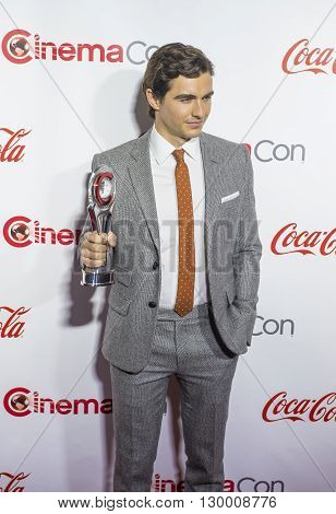 LAS VEGAS - APRIL 14 : Actor Dave Franco recipient of the Breakthrough Performer of the Year Award attends the CinemaCon Big Screen Achievement Awards at The Caesars Palace on April 14 2016 in Las Vegas