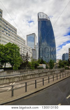 Paris, France - May 12: It is an area of modern high-rise office buildings and architectural plan which is called La Defanse May 12, 2013 in Paris, France.