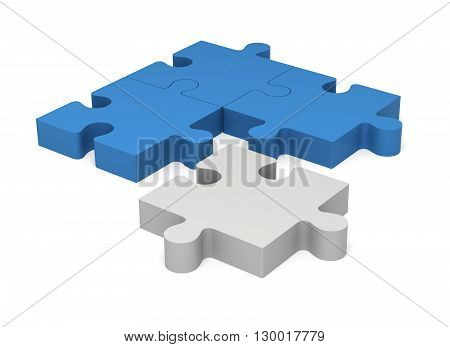 3D Puzzle Pieces. Concept Innovations.