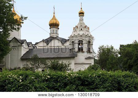 Sergiev, Posad Russia - May 23: This is Pyatnitskaya church near Trinity-Sergius Laurus of Russian Orthodox Patriarchate May 23, 2013 in Sergiev Posad, Russia.