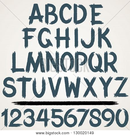 Brush Stroke Paint Alphabet. Vector Font Kit Ready for Your Text and Design.