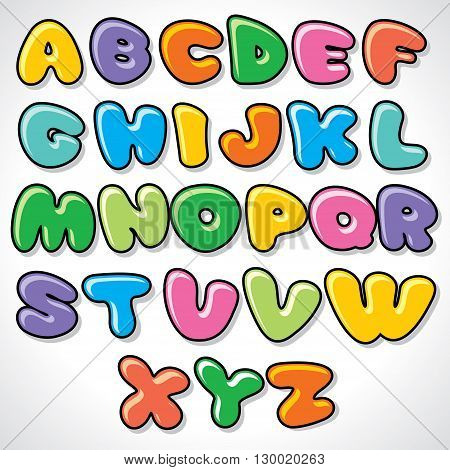 Vector Comics Alphabet. Ready for Your Text and Design.