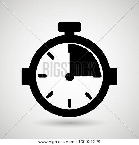 chronometer icon design, vector illustration eps10 graphic