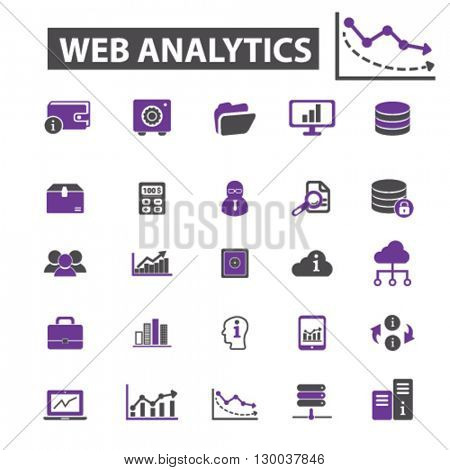 web analytics icons