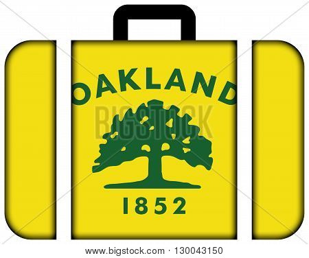 Flag Of Oakland, California. Suitcase Icon, Travel And Transportation Concept