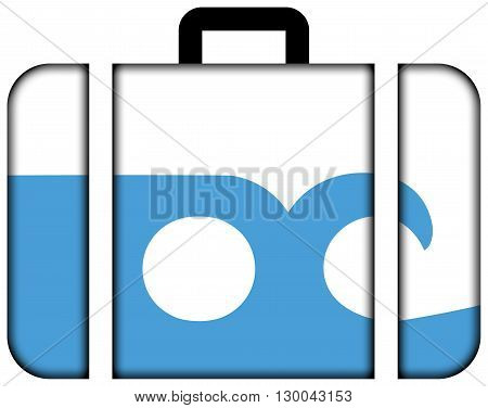 Flag Of Ocean City, Maryland. Suitcase Icon, Travel And Transportation Concept