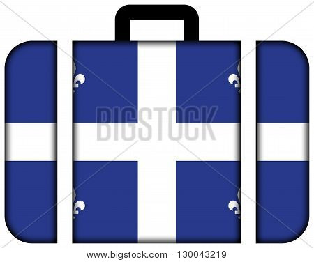Flag Of Quebec. Suitcase Icon, Travel And Transportation Concept
