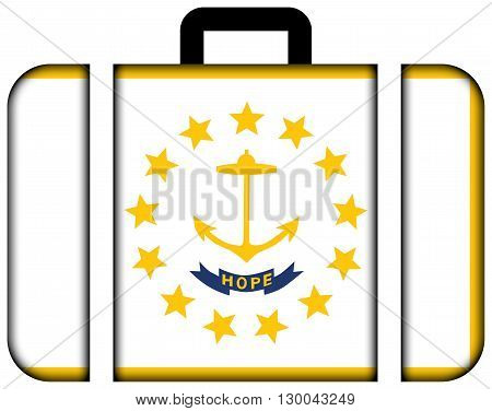 Flag Of Rhode Island. Suitcase Icon, Travel And Transportation Concept