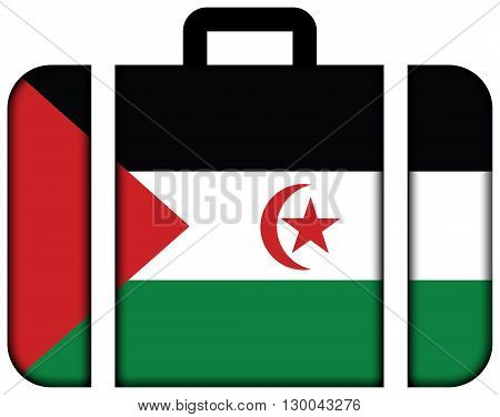 Flag Of Sahrawi Arab Democratic Republic. Suitcase Icon, Travel And Transportation Concept