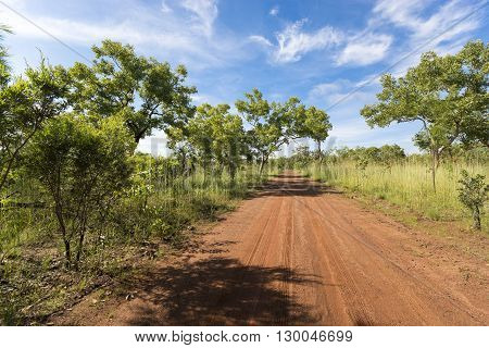 Red gravel road - Kakadu National Park, Australia