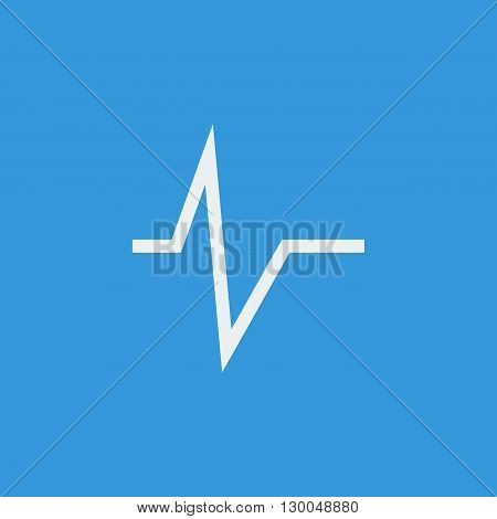 Pulse Icon In Vector Format. Premium Quality Pulse Symbol. Web Graphic Pulse Sign On Blue Background