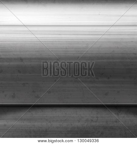 Empty metal plate. Silver metal. Silvery background. Polished silver metal texture