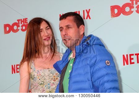 LOS ANGELES - MAY 16:  Jackie Sandler, Adam Sandler at the The Do-Over Premiere Screening at the Regal 14 Theaters on May 16, 2016 in Los Angeles, CA