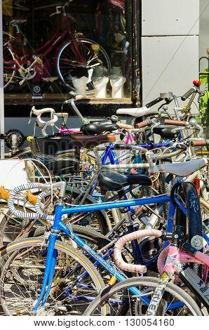 Bikes Store At Farmer's Market At The Kensington
