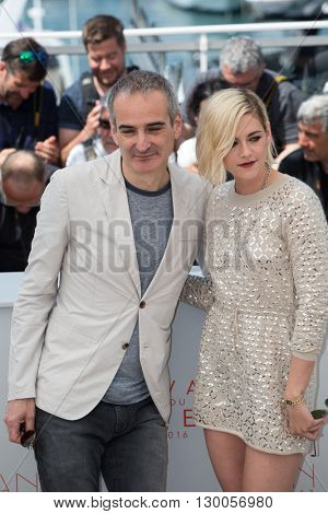 Olivier Assayas, Kristen Stewart  at the photocall for 'Personal Shopper' at the 69th Festival de Cannes.May 17, 2016  Cannes, France