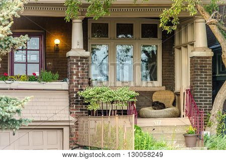 Different Colored Facades Of Houses In Toronto