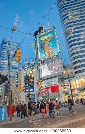 Yonge-dunda Square In Toronto In Canada