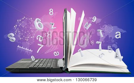 IT Communication, e-learning. Internet network as knowledge base