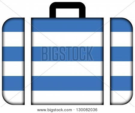 Flag Of Tallinn. Suitcase Icon, Travel And Transportation Concept