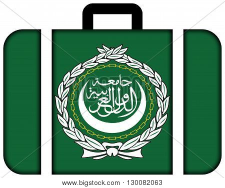 Flag Of The Arab League. Suitcase Icon, Travel And Transportation Concept