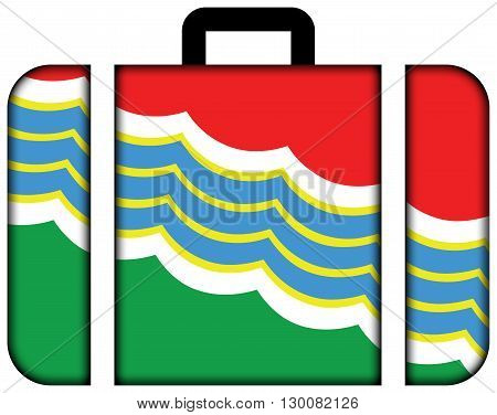 Flag Of Tiraspol. Suitcase Icon, Travel And Transportation Concept