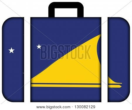 Flag Of Tokelau. Suitcase Icon, Travel And Transportation Concept
