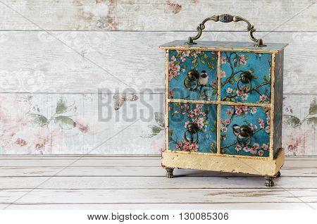 Decoupaged Jewellery Box