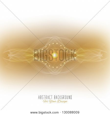 Abstract vector background. Futuristic style card. Abstract alien organism or cell. White and pale yellow color