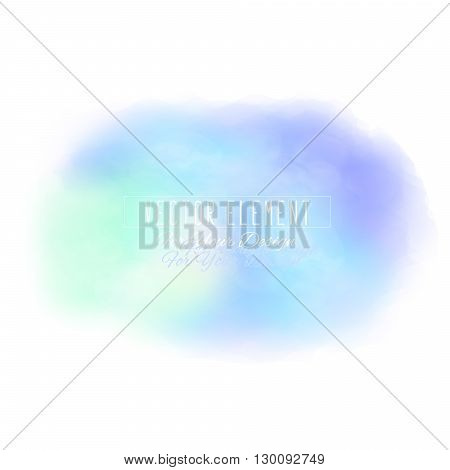 Vector watercolor spot. Watercolor background. Colorful abstract texture. Bright watercolor stain. Vector art banner. Light blue colors
