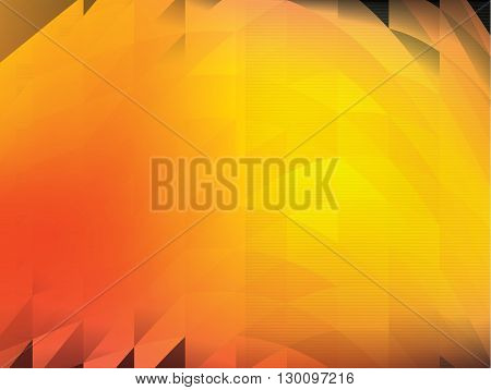 Dark orange polygonal illustration, which consist of triangles.