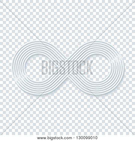 Infinity symbol on transparent background. Vector EPS10.