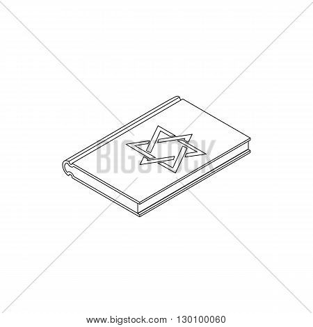 Talmud pentateuch in isometric 3d style isolated on white background