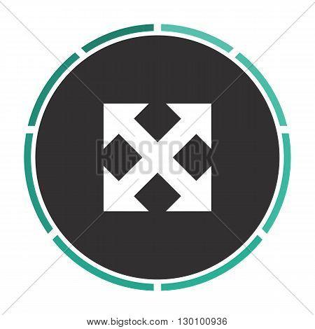Enlarge Simple flat white vector pictogram on black circle. Illustration icon