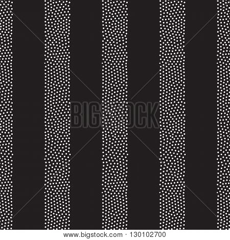 Vector Geometric Seamless Pattern. Repeating Abstract Dots Verti