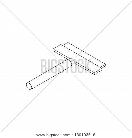 Brush squeegee for windows icon in isometric 3d style isolated on white background. Cleaning