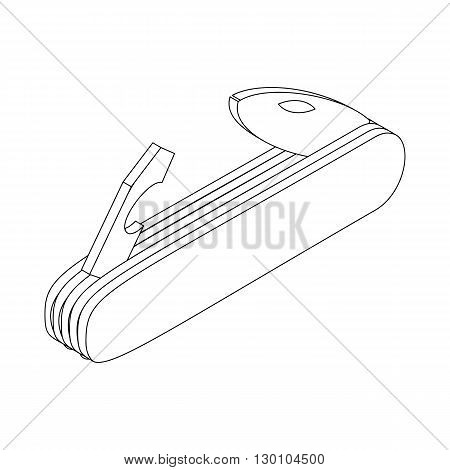 Multifunctional pocket knife icon in isometric 3d style isolated on white background