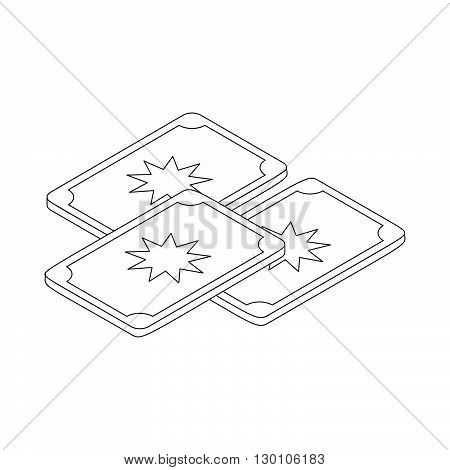 Tarot cards icon in isometric 3d style on a white background