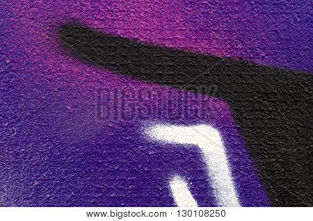 Detail of a mural as texture, eye catcher