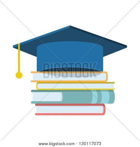 Graduation cap and book icon, Graduation cap and book web icon, Graduation cap and book vector icon, Graduation cap and book isolated icon, Graduation cap and book icon illustration