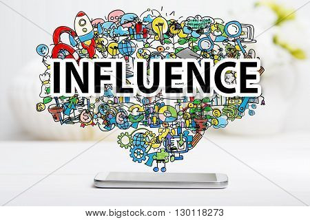 Influence Concept With Smartphone