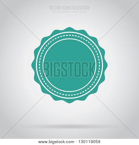 Vintage Badge With Rosette Vector Special Offer Award Blank Sign Winner Linear