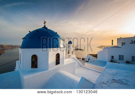 Santorini church in Santorini island, Oia, Greece