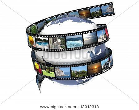 Earth film with images