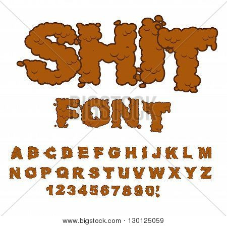 Shit Font. Letters From Poop. Alphabet Shit. Lettering And Typography. Bullshit Abc