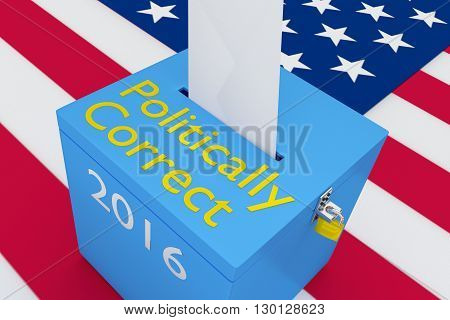 Politically Correct Election Concept